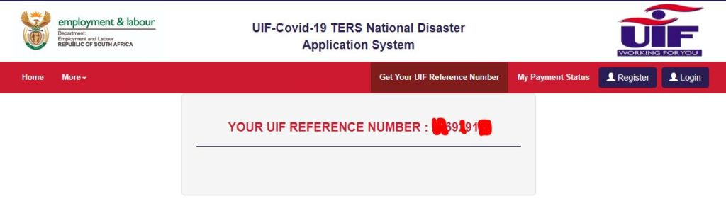 uif reference number